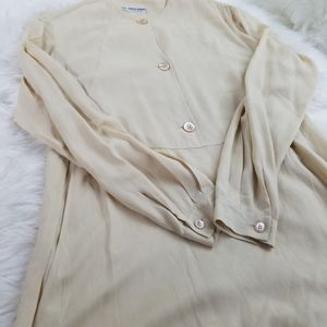 Giorgio Armani cream tunic shirt size 6